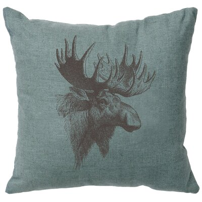 Nakagawa Moose Profile Throw Pillow Color: Ocean