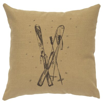 Nakamura Ski Throw Pillow Color: Straw