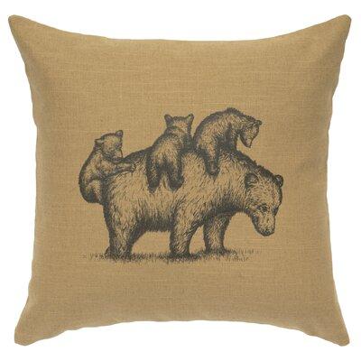 Nakashima Mama Bear Throw Pillow Color: Straw