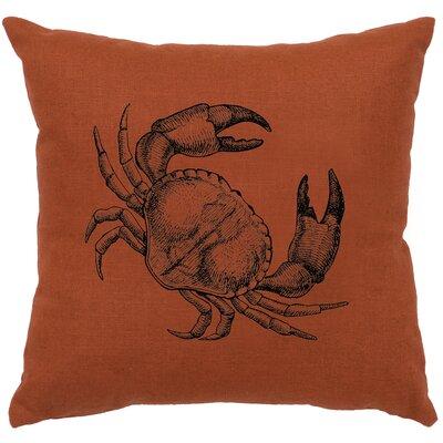 Truman Crab Throw Pillow Color: Paprika