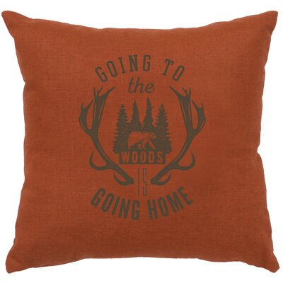 Neale Going to the Woods Throw Pillow Color: Paprika