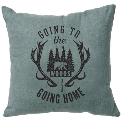 Neale Going to the Woods Throw Pillow Color: Ocean