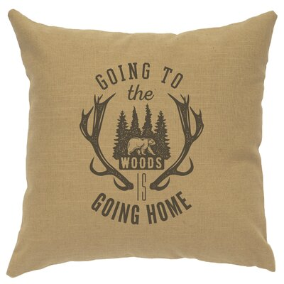 Neale Going to the Woods Throw Pillow Color: Straw