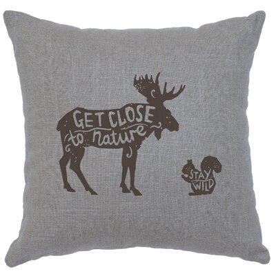 Neale Close to Nature Throw Pillow Color: Gray