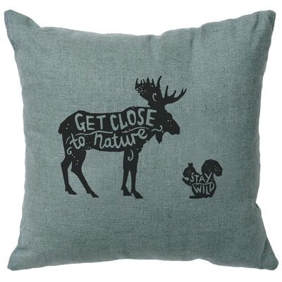 Neale Close to Nature Throw Pillow Color: Ocean