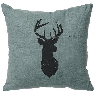 Lansford Deer Head Silhouette Throw Pillow Color: Ocean