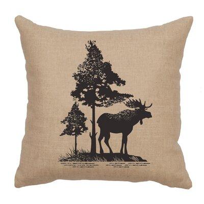 Nakagawa Moose Tree Throw Pillow Color: Natural