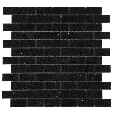 Quartz Engineered Stone Tile in Black