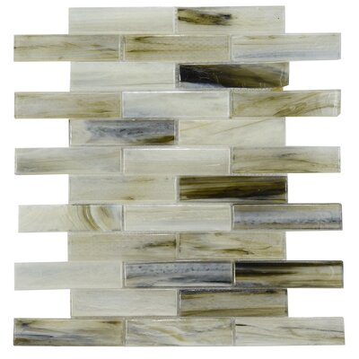 Laguna Glass Mosaic Tile in Gray/Black