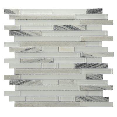 Modern Sleek Mixed Tile in White/Gray
