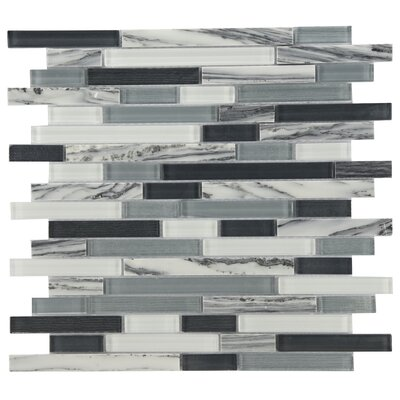 Modern Sleek Mixed Tile in Black/Gray/White
