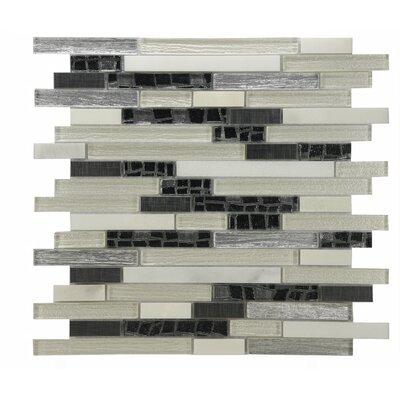 Modern Sleek Mixed Tile In Cream/gray