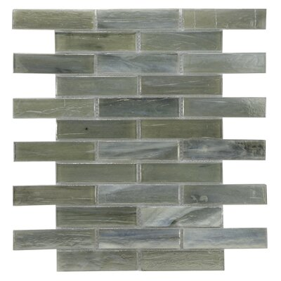 Laguna Glass Mosaic Tile in Gray