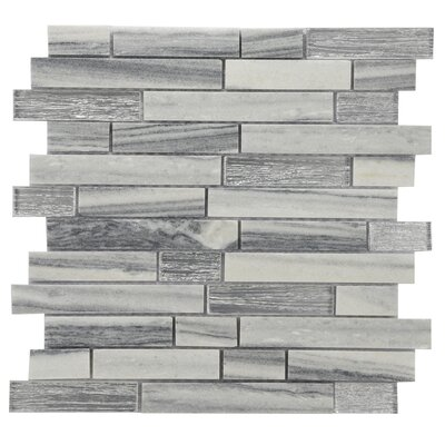 Modern Sleek Mixed Tile in Gray/White