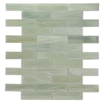 Laguna Glass Mosaic Tile in Light Green