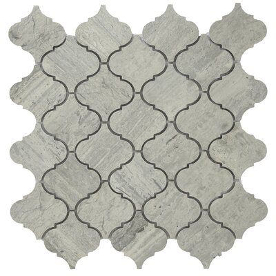 Shrine Veined Marble Tile in Gray