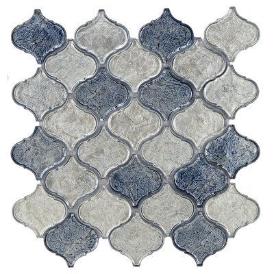 Lantern Glass Mosaic Tile in Blue Blend