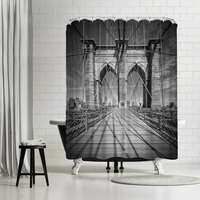 Melanie Viola New York City Brooklyn Bridge Shower Curtain
