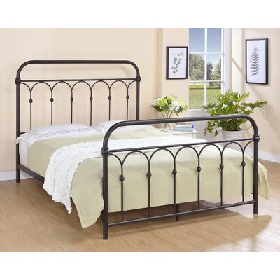 Letterly Metal Open-Frame Headboard Size: Queen, Color: Rust Black