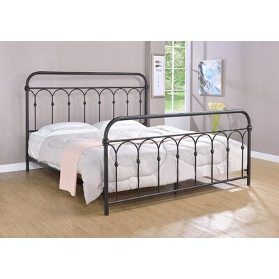 Letterly Metal Open-Frame Headboard Size: King, Color: Rust Black
