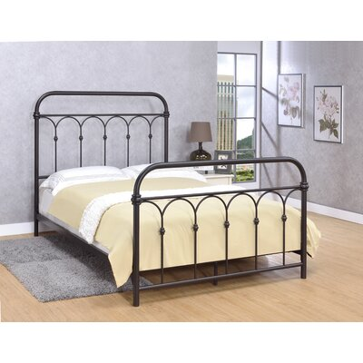 Letterly Metal Open-Frame Headboard Size: Full, Color: Rust Black