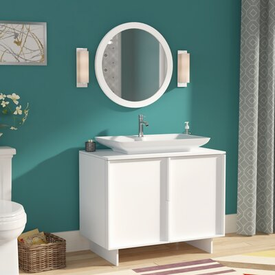 Carrillo 37 Single Bathroom Vanity Set with Mirror Base Finish: White
