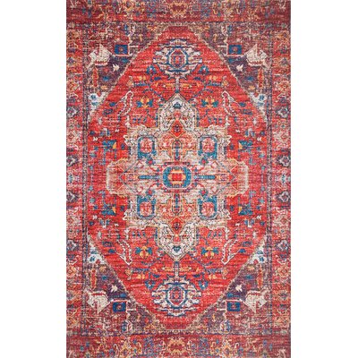 Cespedes Rust Area Rug Rug Size: Rectangle 76 x 96