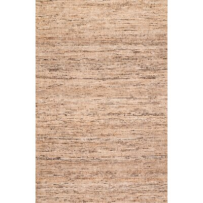 Wrexham Hand-Woven Light Brown Area Rug Rug Size: Rectangle 5 x 8