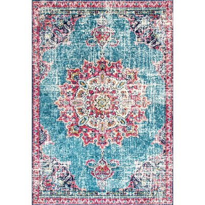 Charland Pink/Blue Area Rug Rug Size: Rectangle 8 x 10