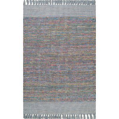 Dupras Cotton Gray Area Rug Rug Size: Rectangle 76 x 96