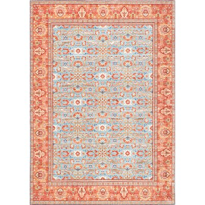 Chaffins Light Blue Area Rug Rug Size: Rectangle 53 x 77