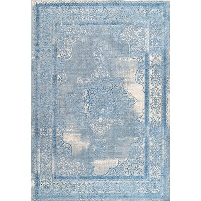 Johnstone Blue Area Rug Rug Size: Rectangle 53 x 8