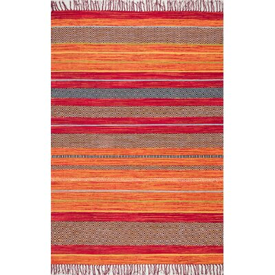 Dupuis Cotton Orange Area Rug Rug Size: Rectangle 76 x 96