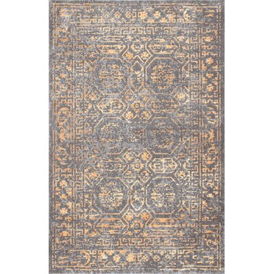 Cervantes Gold Area Rug Rug Size: Rectangle 8 x 10