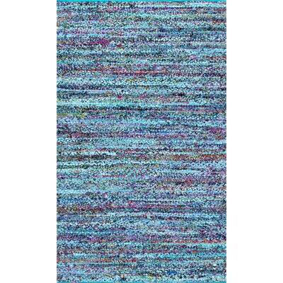 Dupree Hand-Braided Blue Area Rug Rug Size: Rectangle 5 x 8