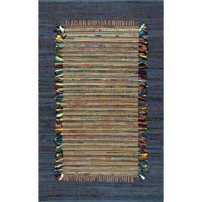 Duppstadt Cotton Navy Area Rug Rug Size: Rectangle 76 x 96