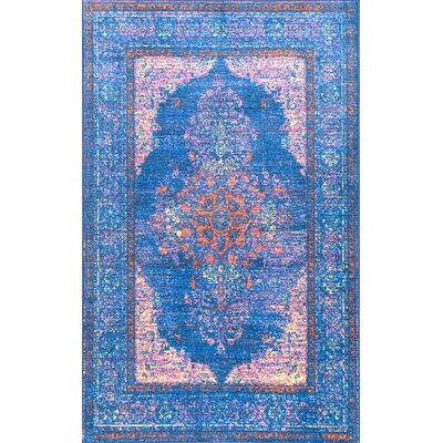 Chamorro Blue Area Rug Rug Size: Rectangle 5 x 8