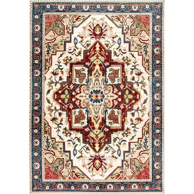 Durden Red/Beige Area Rug Rug Size: Rectangle 8 x 10