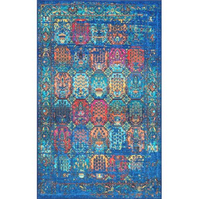 Chang Dark Blue Area Rug Rug Size: Rectangle 5 x 8