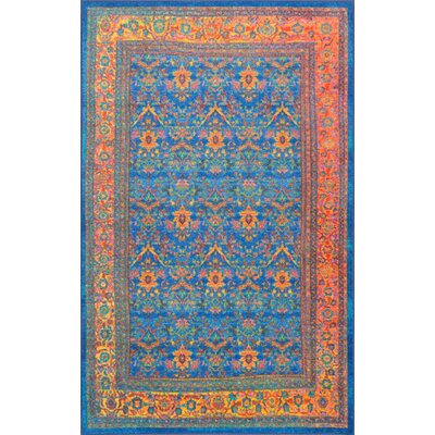Durgin Blue Area Rug Rug Size: Rectangle 5 x 8