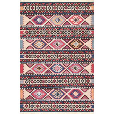Chaparro Wool Red Area Rug Rug Size: Rectangle 76 x 96