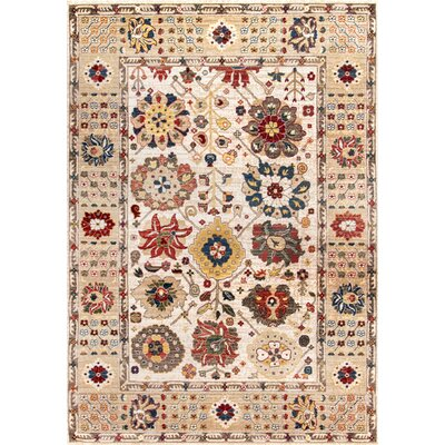Dupuy Light Beige Area Rug Rug Size: Rectangle 8 x 10
