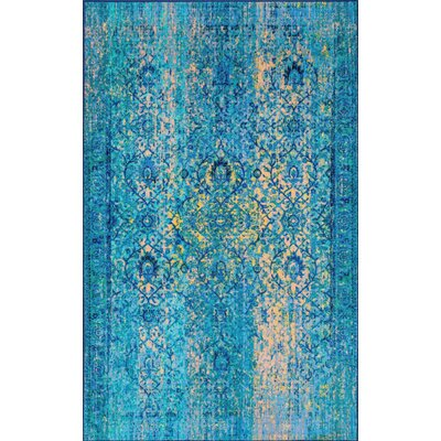 Chalfant Blue Area Rug Rug Size: Rectangle 5 x 8