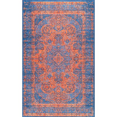 Champlost Navy Blue Area Rug Rug Size: Rectangle 8' x 10'