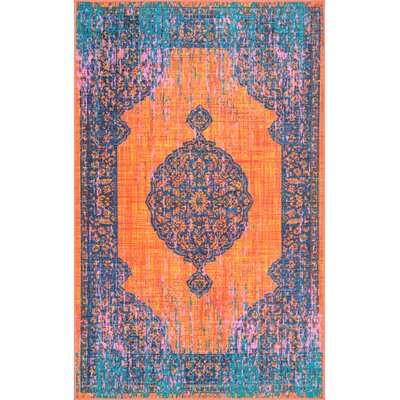 Chan Orange Area Rug Rug Size: Rectangle 5' x 8'