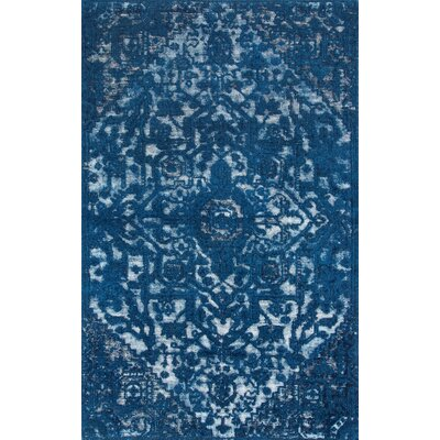Chappelle Hand-Woven Blue Area Rug Rug Size: Rectangle 76 x 96