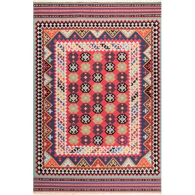Chapa Wool Red Area Rug Rug Size: Rectangle 76 x 96