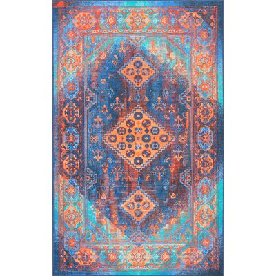 Chamlee Blue Area Rug Rug Size: Rectangle 5 x 8