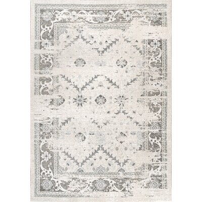 Charest Gray Area Rug Rug Size: Rectangle 53 x 8