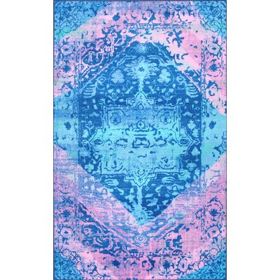 Chambless Blue Area Rug Rug Size: Rectangle 8 x 10